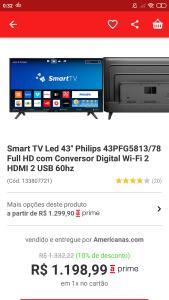 Smart tv 43 Philips