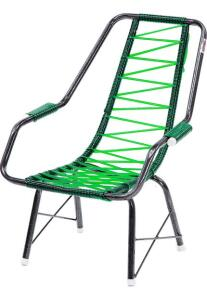 Cadeira De Fio Infantil Eletrostático Plus Verde Fabone Móveis R$ 36