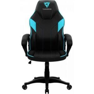 [50%  Ame R$ 340] Cadeira Gamer EC1 Black Cyan THUNDERX3 - R$680