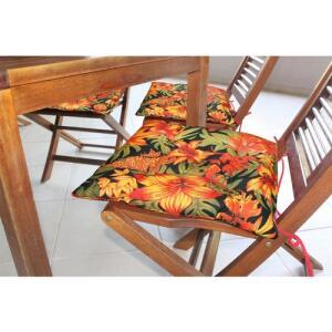 [40% de AME] Almofada Futton Alasca Flores Vermelhas E6 40cmX40cm - R$16