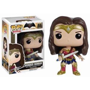 Batman Vs Superman Boneca Mulher Maravilha Pop Funko 10cms 86