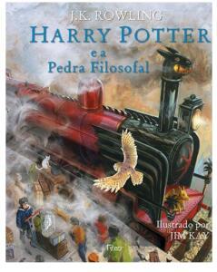Livro ilustrado Harry Potter e a Pedra Filosofal