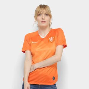 Camisa Seleção Holanda Away 19/20 s/nº Torcedor Nike Feminina | R$150