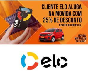Cliente ELO aluga na Movida com 25% de desconto a partir do grupo HX