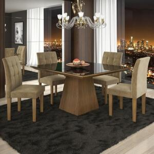 [Ame R$488] Conjunto Sala de Jantar Mesa 4 Cadeiras Pietra - R$626