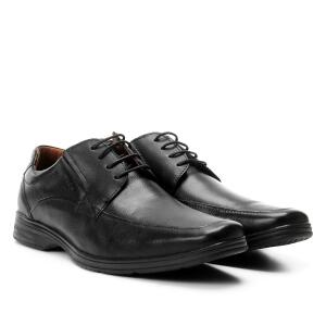 Sapato Social Couro Ferracini Básico React Masculina - Preto R$ 140