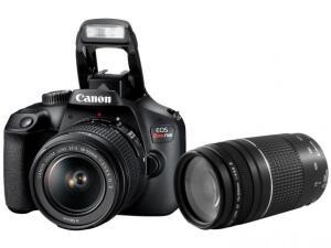 Câmera Semiprofissional Canon T100 + lentes 75-300mm R$ 1349