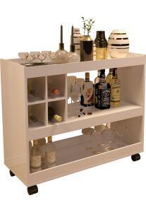 Aparador Bar Jb 4050 Luxo Perola R$ 152