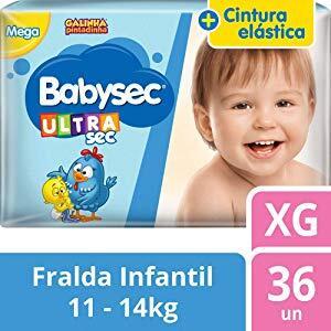 Fralda Babysec Galinha Pintadinha Ultrasec na promoção até 48% OFF na Amazon