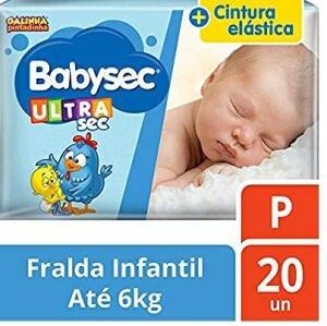 Fralda Babysec Galinha Pintadinha  P 20 Unids (Frete grátis para prime)
