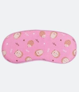 Máscara de dormir com estampa porco espinho | R$7
