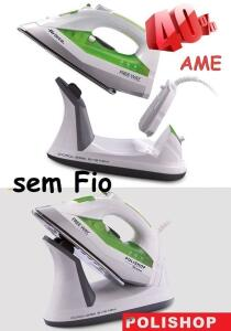 [40% CASHBACK] Ferro De Passar Sem Fio Free Way Polishop Ariete   R$332