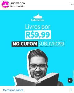 Livros a R$9,99 no Submarino
