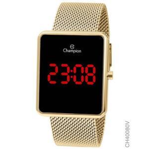 [R$150 AME] Relógio Champion Feminino Digital Dourado Quadrado | R$187