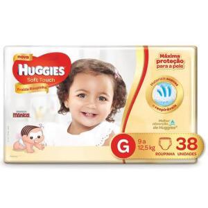 Fralda Huggies Turma da Mônica Soft Touch Mega Roupinha G - 38 Un. | R$31