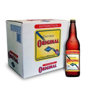 Cerveja Antarctica Original 600ml Caixa (12 Un.) - 31% OFF | R$66