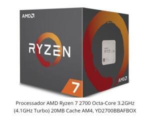 Processador AMD Ryzen 7 2700 Octa-Core 3.2GHz (4.1GHz Turbo) 20MB R$ 850