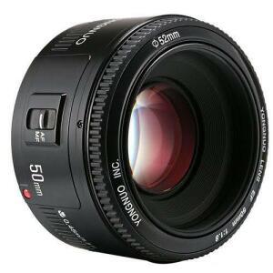Lente Yongnuo 50mm f/1.8 para Canon | R$319