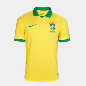Camisa Seleção Brasil I 19/20 s/n° Torcedor Nike Masculina - Amarelo e Verde