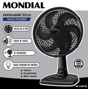 [PRIME] Ventilador 30cm Maxi Power, Mondial, NV15 6P FB Preto - R$ 63