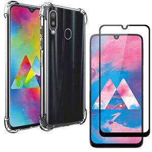 Capa Capinha Anti Shock Samsung Galaxy M30 + Película 5D Nano Blindada Gel Flexível Cobertura 100% Galaxy M30 - R$32