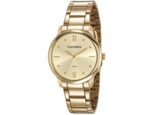 Relógio Feminino Mondaine Analógico - 53805LPMGDE1 Dourada R$ 90