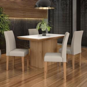 [AME 20%] Conjunto Sala De Jantar 4 Cadeiras Beatriz R$ 599