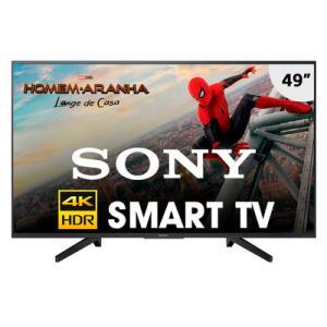Smart TV Sony 49 Polegadas LED Ultra HD 4K KD-49X705F Preta