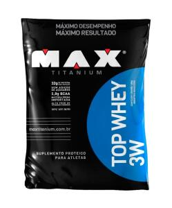 Top Whey 3W 1.8kg/Refil Chocolate - Max Titanium
