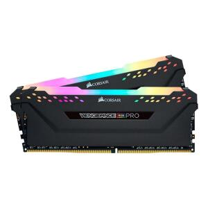 MEMORIA CORSAIR VENGEANCE RGB PRO 16GB (2X8) DDR4 3600MHZ PRETA, CMW16GX4M2D3600C18