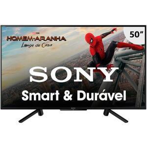 """Smart TV LED 50"""" Sony KDL-50W665F Full HD com Conversor Digital 2 HDMI 2 USB Wi-Fi 60Hz - Preta( LINK CORRETO NA DESCRIÇÃO)"""