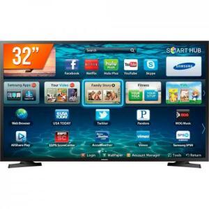 "Smart TV LED 32"" HD Samsung LH32 | R$875"