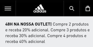 40% desconto Loja Adidas