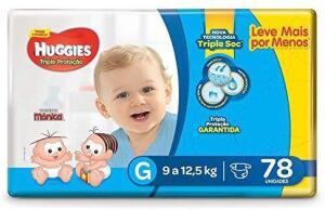 (Prime) Fralda Huggies G, 78 unidades. 0,60 por fralda