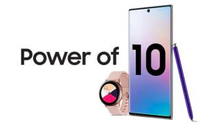 Compre um Galaxy Note 10+e ganhe um Galaxy Watch Active Rosé