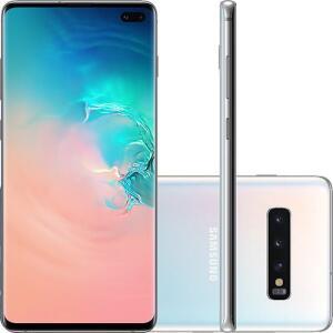 (R$ 2998,00 AME) Smartphone Samsung Galaxy S10+ 128GB Dual Chip Android 9.0 Tela 6.4 Octa-Core 4G Câmera Tripla Traseira 12MP + 12MP + 16MP