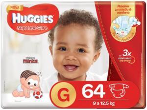 Fraldas Huggies Supreme Care Tam G - 64 Unidades R$ 49