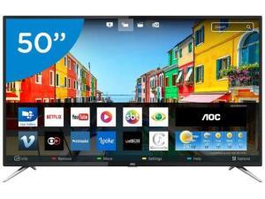 (Cc Americanas) Smart TV 50 4K AOC (AME 1169)