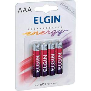 [AMAZON] 4 Pilhas Recarregável Ni-Mh Aaa-1000Mah Elgin R$17,90 (Frete Grátis Prime)