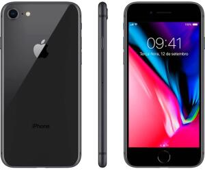 "(R$2328 com AME) iPhone 8 64GB Cinza Espacial Tela 4.7"" R$ 2375"