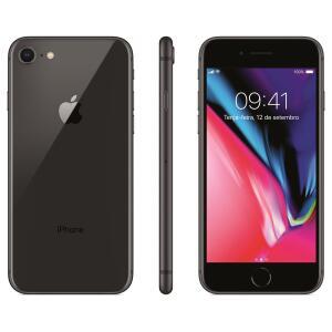 Apple iPhone 8 (64 GB, Preto e Dourado) | R$2.379