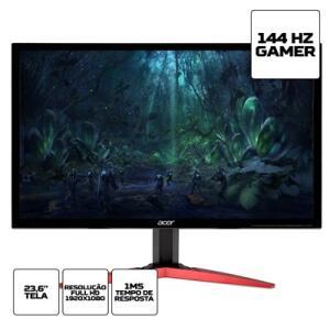 "Monitor Acer KG241Q 23.6"" Full HD 144Hz 1ms HDMI DVI Display Port | R$879"
