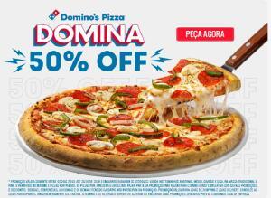 50% OFF na Domino's Pizza com o cupom