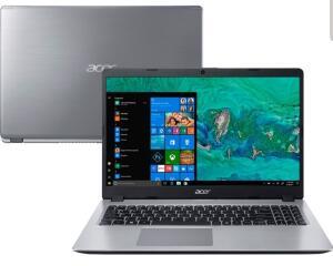 "(AME 2223) Notebook Acer A515-52G-57NL 8ª Intel Core I5 16GB (Geforce MX130 com 2GB) 1TB LED 15,6"" W10 Prata"