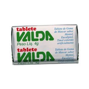 Tablete Valda Goma de Mascar 1 Unidade 4g   R$0,01