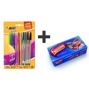 [APP] Conjunto 10 canetas BIC + CAIXA DE BOMBOM NESTLÉ ou GAROTO [Retire na Loja]