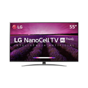 "Smart TV LED 55"" LG SM8100 NanoCell 4K, IPS, HDR com Dolby Vision Atmos, WebOS 4.5, Inteligência Artificial"