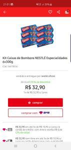 6 caixas de bombom Nestlé