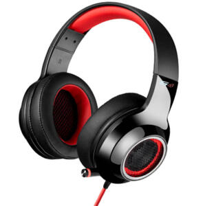 Headphone Gamer 7.1 EDIFIER G4 Over-Ear Preto e Vermelho   R$260