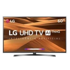 "Smart TV LG 60"" UHD 4K Controle Smart Magic ThinQ AI 60UM7270 R$ 2616"